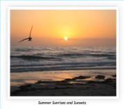 Summer Sunrises and Sunsets