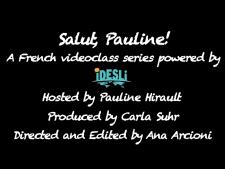 POUR Salut, Pauline! Adjectifs Possessifs
